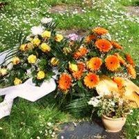 Blumenschmuck Urnengrab